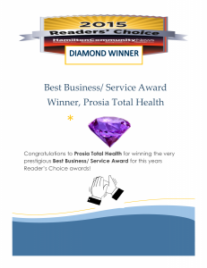 Readers Choice Award Diamond Winner Prosia Total Health