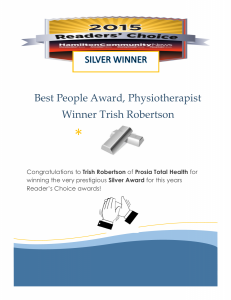 Readers Choice Award  Silver Winner Trish Robertson